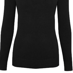 Cielo Tops - Cielo Solid Stretch Mock Neck Pullover Knit